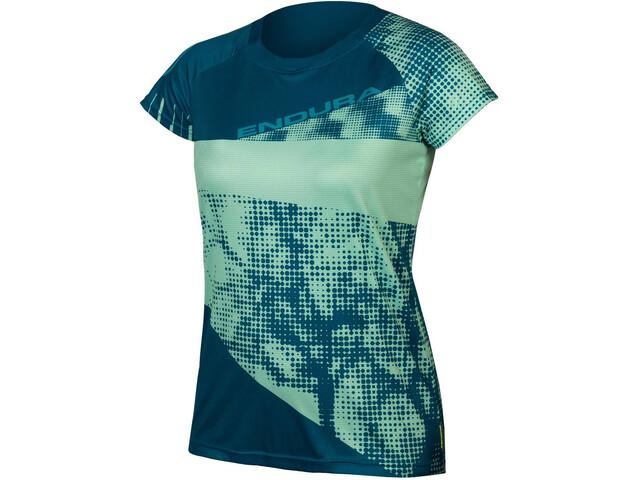 Endura SingleTrack Dots LTD Tech T-shirt Dames, blauw
